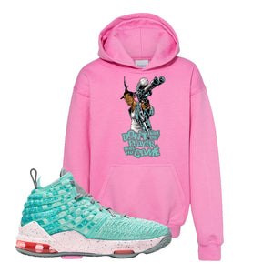 Lebron 17 South Beach Kids Pullover Hoodie | Dont Hate the Playa, Azalea