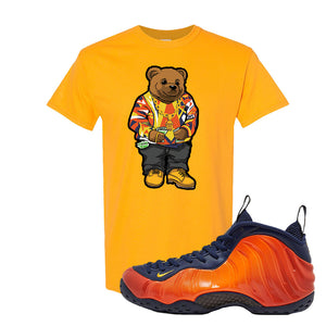 Foamposite One OKC T Shirt | Gold, Sweater Bear