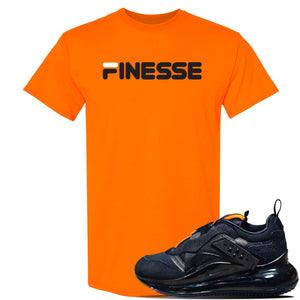 Air Max 720 OBJ Slip Sneaker Safety Orange T Shirt | Tees to match Nike Air Max 720 OBJ Slip Shoes | Finesse