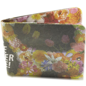 Chato Floral We Never Die Paper Wallet