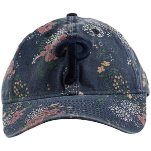 Philadelphia Phillies Vintage Blue Floral Youth Adjustable Baseball Cap