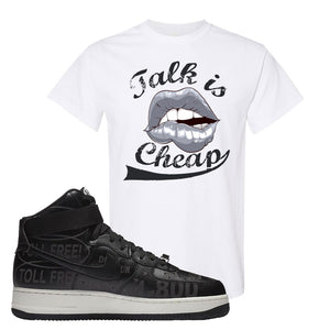 Air Force 1 High Hotline T Shirt | Talk Is Cheap, White