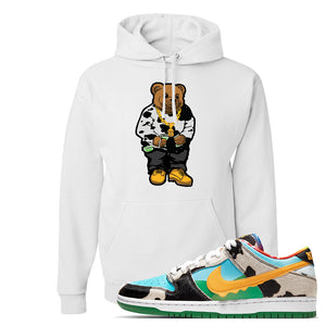 SB Dunk Low 'Chunky Dunky' Hoodie | White, Sweater Bear