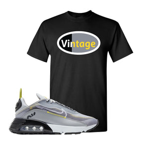 Air Max 2090 Wolf Grey T Shirt | Vintage Oval, Black