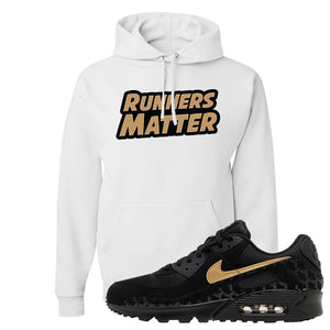Air Max 90 Black Gold Hoodie | Runners Matter, White