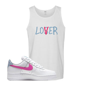 Air Force 1 Low Fire Pink Tank Top | White, Lover
