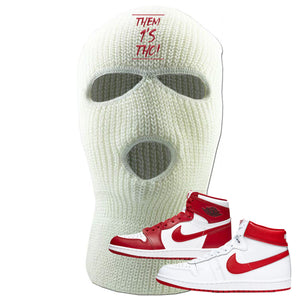 Jordan 1 New Beginnings Pack Sneaker White Ski Mask | Winter Mask to match Nike Air Jordan 1 New Beginnings Pack Shoes | Them 1's Tho