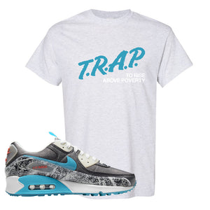 Air Max 90 Rice Ball T Shirt | Trap To Rise Above Poverty, Ash