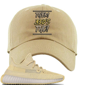 Yeezy Boost 350 V2 Flax Sneaker Khaki Dad Hat | Hat to match Adidas Yeezy Boost 350 V2 Flax Shoes | Them 350's Tho