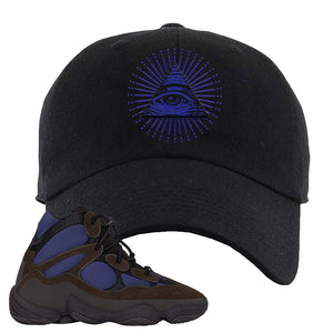 Yeezy 500 High Tyrian Dad Hat | Brown, All Seeing Eye