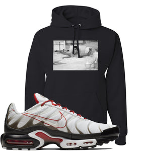Nike Air Max Plus White University Red Sneaker Hook Up Bathtub Scarface Black Hoodie