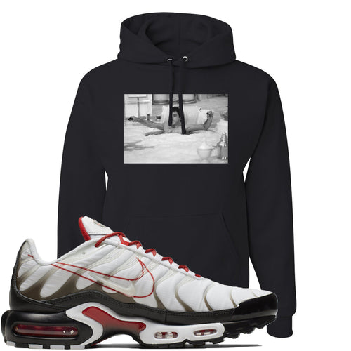 Nike Air Max Plus White University Red Sneaker Match Bathtub Scarface Black Hoodie