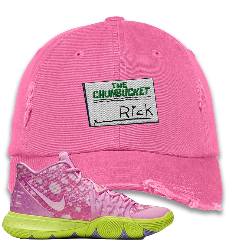Spongebob Squarepants x Nike Kyrie 5 Patrick Star Sneaker Hook Up Rick Light Pink Distressed Dad Hat