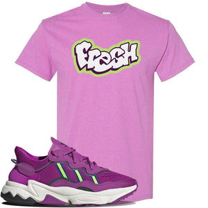 Ozweego Vivid Pink Sneaker Heather Radiant Orchid T Shirt | Tees to match Adidas Ozweego Vivid Pink Shoes | Fresh