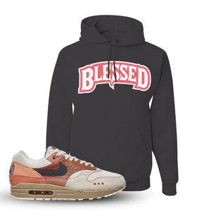 Air Max 1 Amsterdam City Pack Sneaker Charcoal Grey Pullover Hoodie | Hoodie to match Nike Air Max 1 Amsterdam City Pack Shoes | Blessed Arch