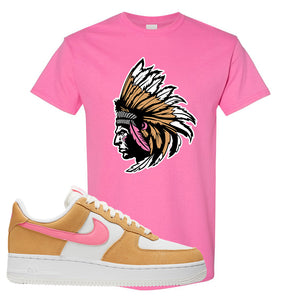 Nike Air Force 1 Pink Orange T-Shirt | Indian Chief, Azalea