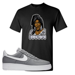 Air Force 1 Low Wolf Grey White T Shirt | Black, Oh My Goodness