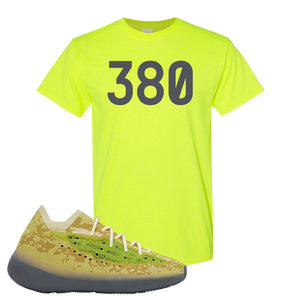 Yeezy Boost 380 Hylte Glow T Shirt | 380, Safety Green