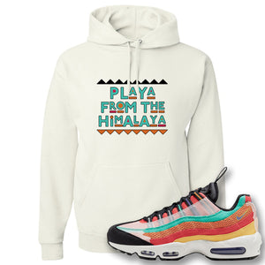 Air Max 95 Black History Month Sneaker White Pullover Hoodie | Hoodie to match Nike Air Max 95 Black History Month Shoes | Playa From The Himalaya
