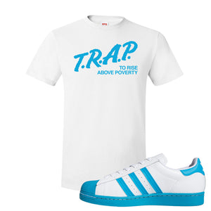 Adidas Superstar 'Aqua Toe' T Shirt | White, Trap To Rise Above Poverty