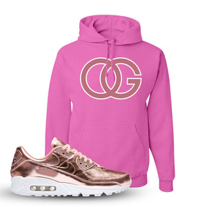 Air Max 90 WMNS 'Medal Pack' Rose Gold Sneaker Pink Pullover Hoodie | Hoodie to match Nike Air Max 90 WMNS 'Medal Pack' Rose Gold Shoes | OG