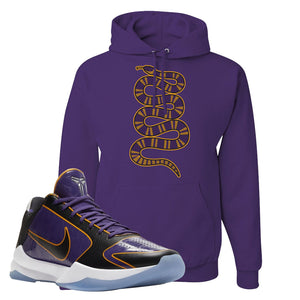 Kobe 5 Protro 5x Champ Hoodie | Coiled Snake, Deep Purple