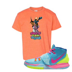 Kyrie 6 Pool Kids T-Shirt | Dont Hate the Player, Orange
