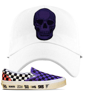Vans Slip On Venice Beach Pack Dad Hat | White, Skull