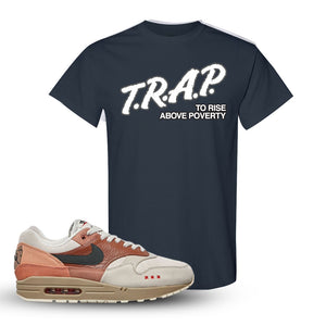 Air Max 1 Amsterdam City Pack T Shirt | Dark Heather, Trap To Rise Above Poverty