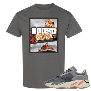 Yeezy Boost 700 Magnet GTA Cover Charcoal Sneaker Matching Tee Shirt