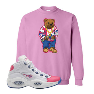 Question Mid Pink Toe Sweatshirt | Sweater Bear, Azalea