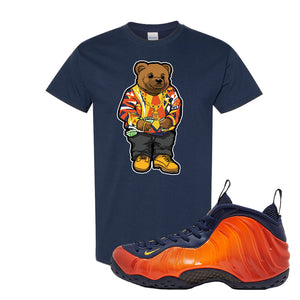 Foamposite One OKC T Shirt | Navy Blue, Sweater Bear