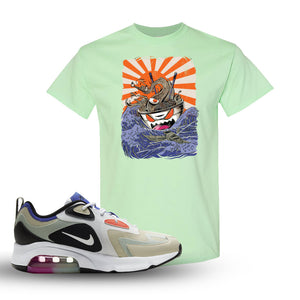 Air Max 200 WMNS Fossil Sneaker Mint Green T Shirt | Tees to match Nike Air Max 200 WMNS Fossil Shoes | Ramen Monster