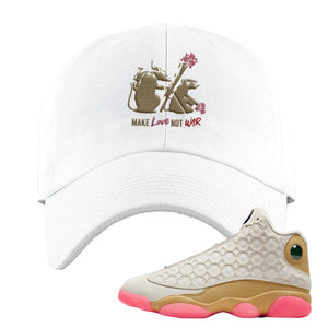 Jordan 13 Chinese New Year Dad Hat | White, Army Rats