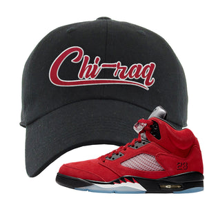 Air Jordan 5 Raging Bull Dad Hat | Chiraq, Black