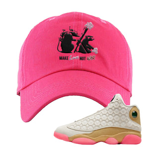 Jordan 13 Chinese New Year Dad Hat | Pink, Army Rats