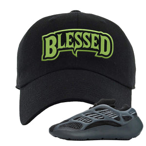Yeezy 700 v3 Alvah Dad Hat | Black, Blesssed Arch