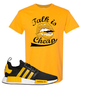 NMD R1 Active Gold T Shirt | Gold, Talk is Cheap