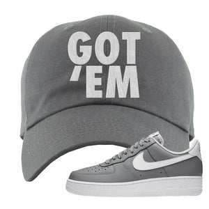 Air Force 1 Low Wolf Grey White Dad Hat | Dark Gray, Got Em