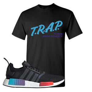 NMD R1 Gradient T Shirt | Black, Trap To Rise Above Poverty