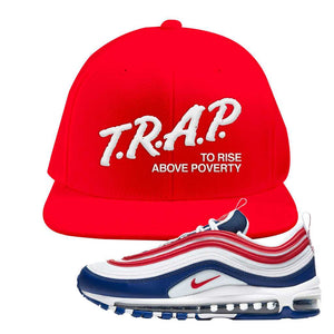 Air Max 97 USA Snapback Hat | Red, Trap To Rise Above Poverty