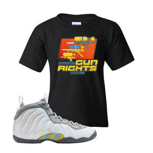 Lil Posite One Rainbow Pixel Kids T Shirt | Black, Water Soaker