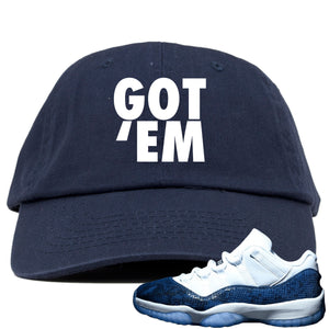 Dark blue and white hat to match Jordan 11 shoes