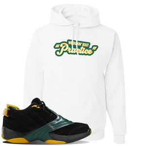 Answer 5 Bethel High Sneaker White Pullover Hoodie | Hoodie to match Reebok Answer 5 Bethel High Shoes | Talkin Bout Practice
