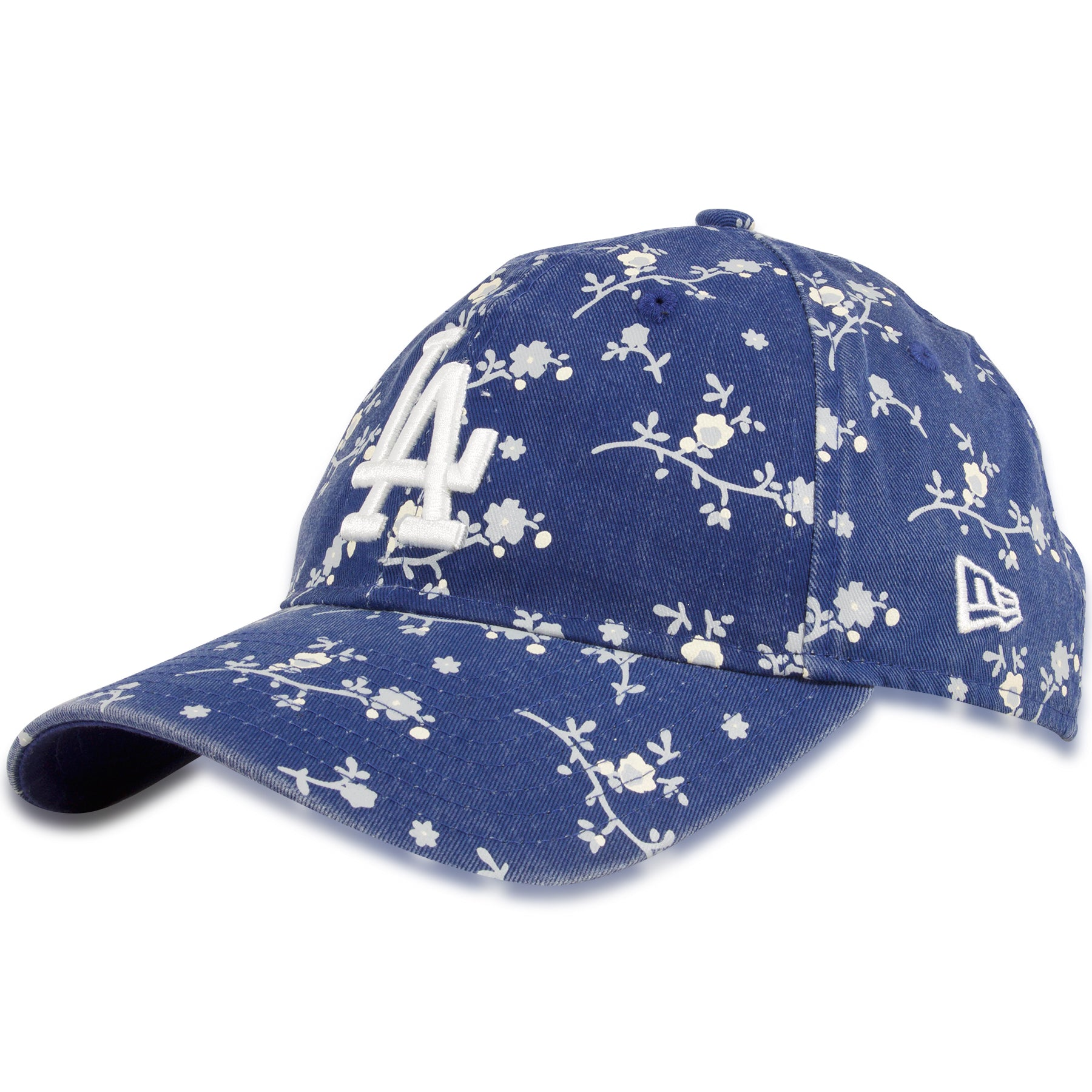 0df53b9c Los Angeles Dodgers Floral Blossom Women's 9Twenty White Adjustable Dad Hat