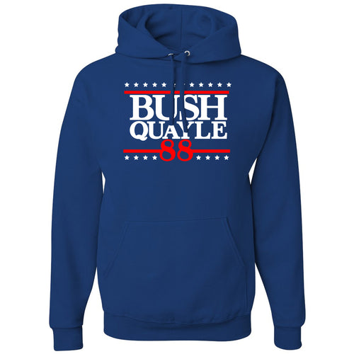 Standard Issue Bush Quayle 88' Blue Pullover Grunt Life Hoodie