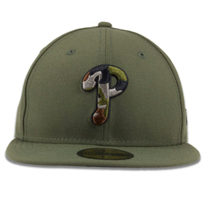 Philadelphia Phillies Army Green / Army Camouflage 59Fifty Fitted Cap