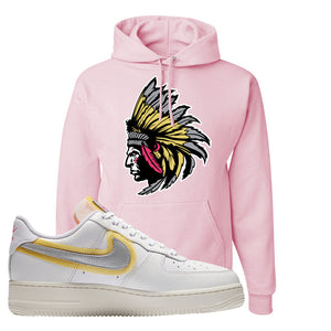 Air Force 1 Low 07 LX White Gold Hoodie | Indian Chief, Classic Pink