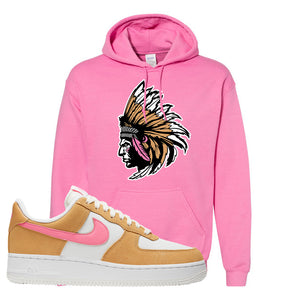 Nike Air Force 1 Pink Orange Hoodie | Indian Chief, Azalea