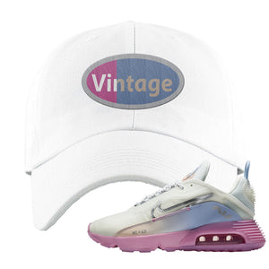 Air Max 2090 Airplane Travel Dad Hat | Vintage Oval, White